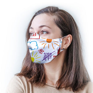 Color Drawing Protective Reusable Face Mask