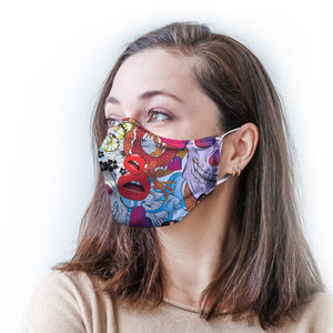 Skulls and Roses Protective Reusable Face Mask