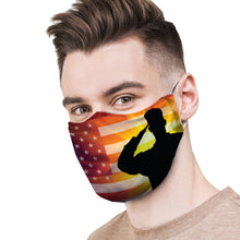 Load image into Gallery viewer, Military Salute Protective Reusable Face Mask