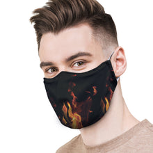 Load image into Gallery viewer, Flames Protective Reusable Face Mask