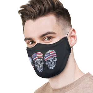 Grunge Skulls Protective Reusable Face Mask