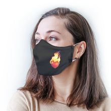 Load image into Gallery viewer, Flaming Heart Protective Reusable Face Mask