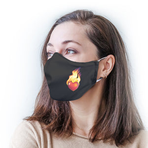 Flaming Heart Protective Reusable Face Mask