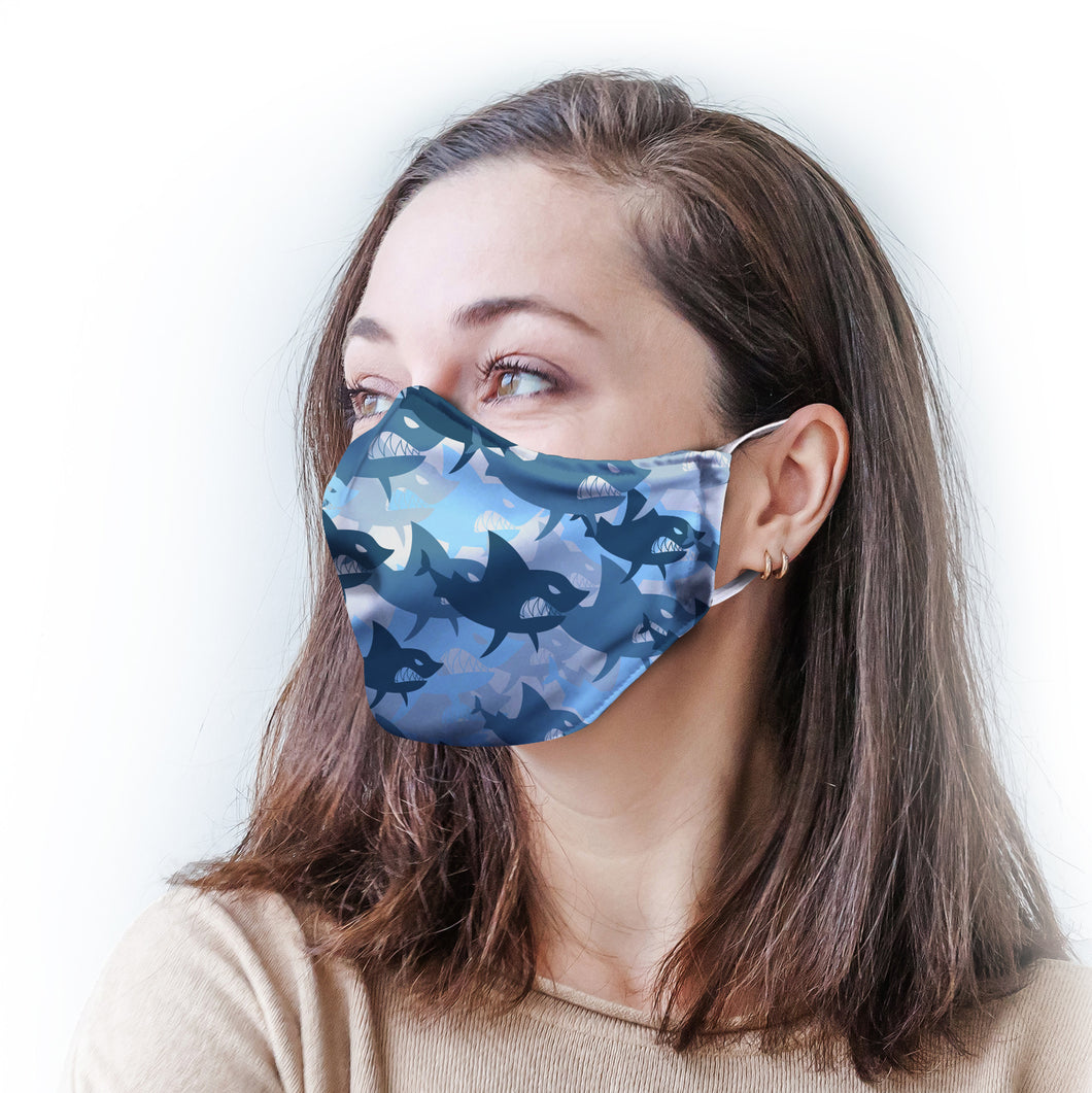 Sharks Protective Reusable Face Mask