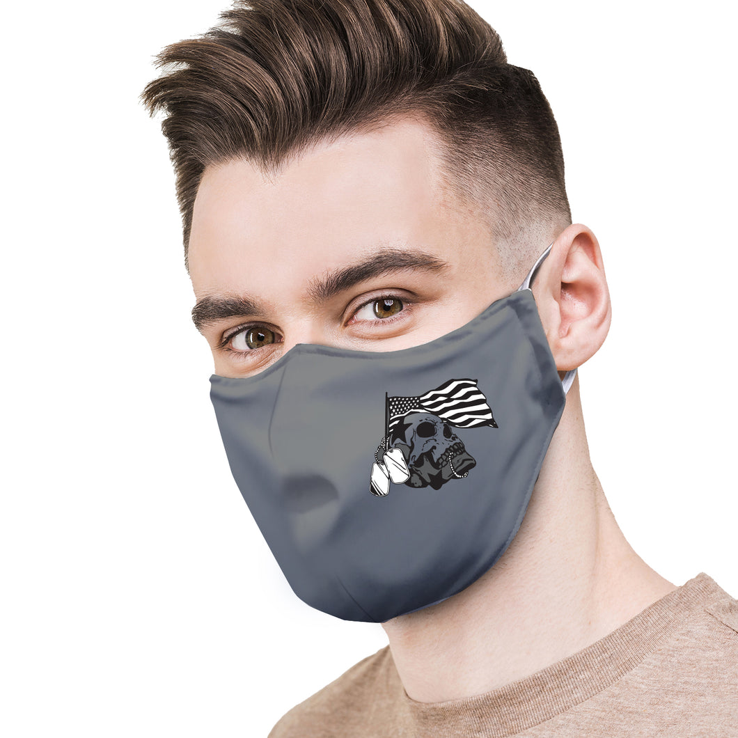 Military Skull Tags Protective Reusable Face Mask
