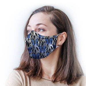 Zebra Bows Protective Reusable Face Mask