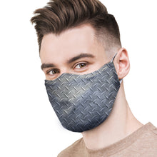 Load image into Gallery viewer, Diamond Plate Protective Reusable Face Mask