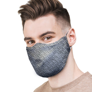 Diamond Plate Protective Reusable Face Mask