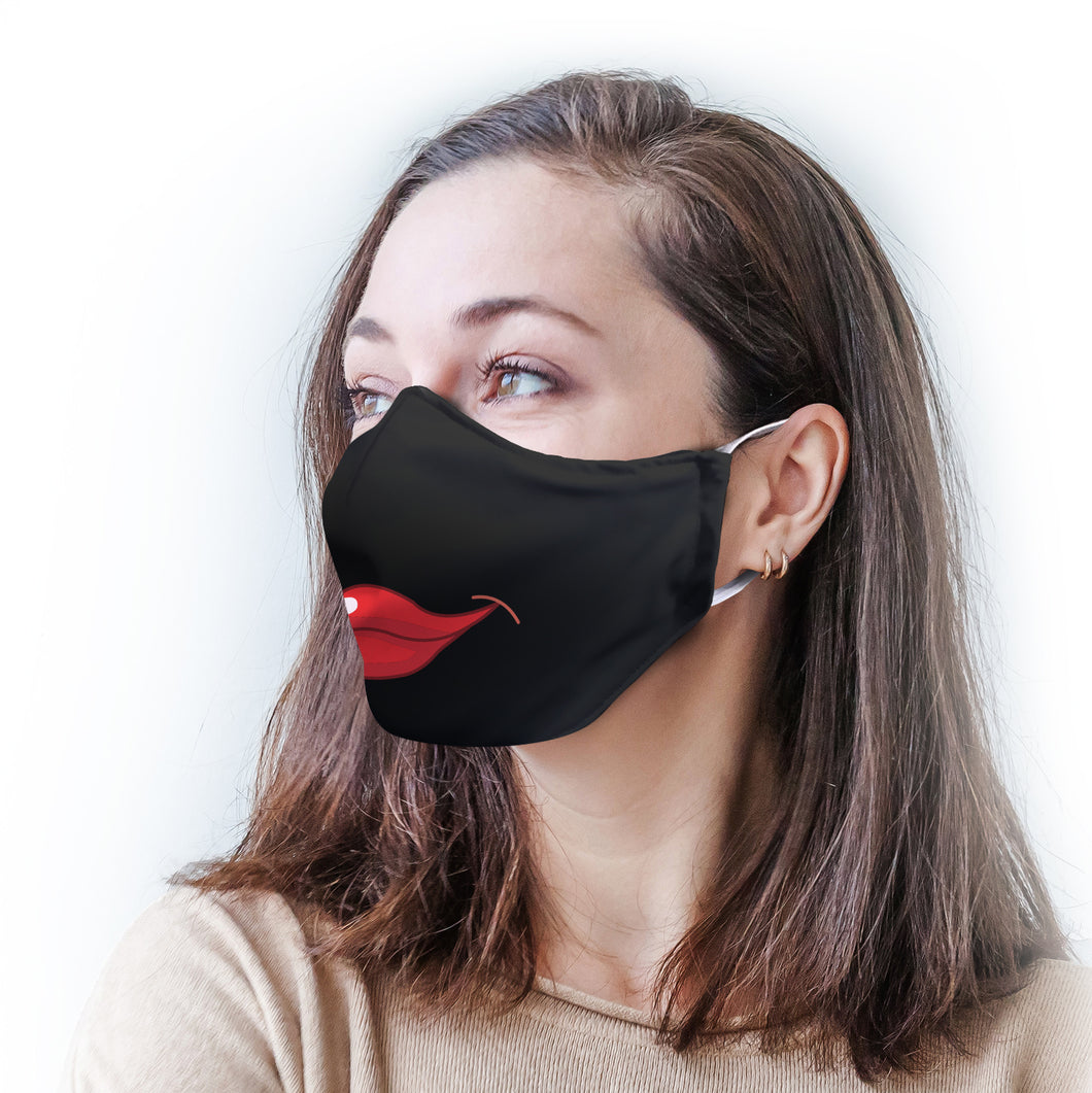 Kissy Lips Protective Reusable Face Mask