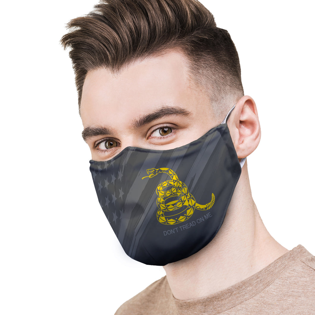 American and Gadsden Flag Protective Reusable Face Mask