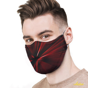Red Vortex Protective Reusable Face Mask