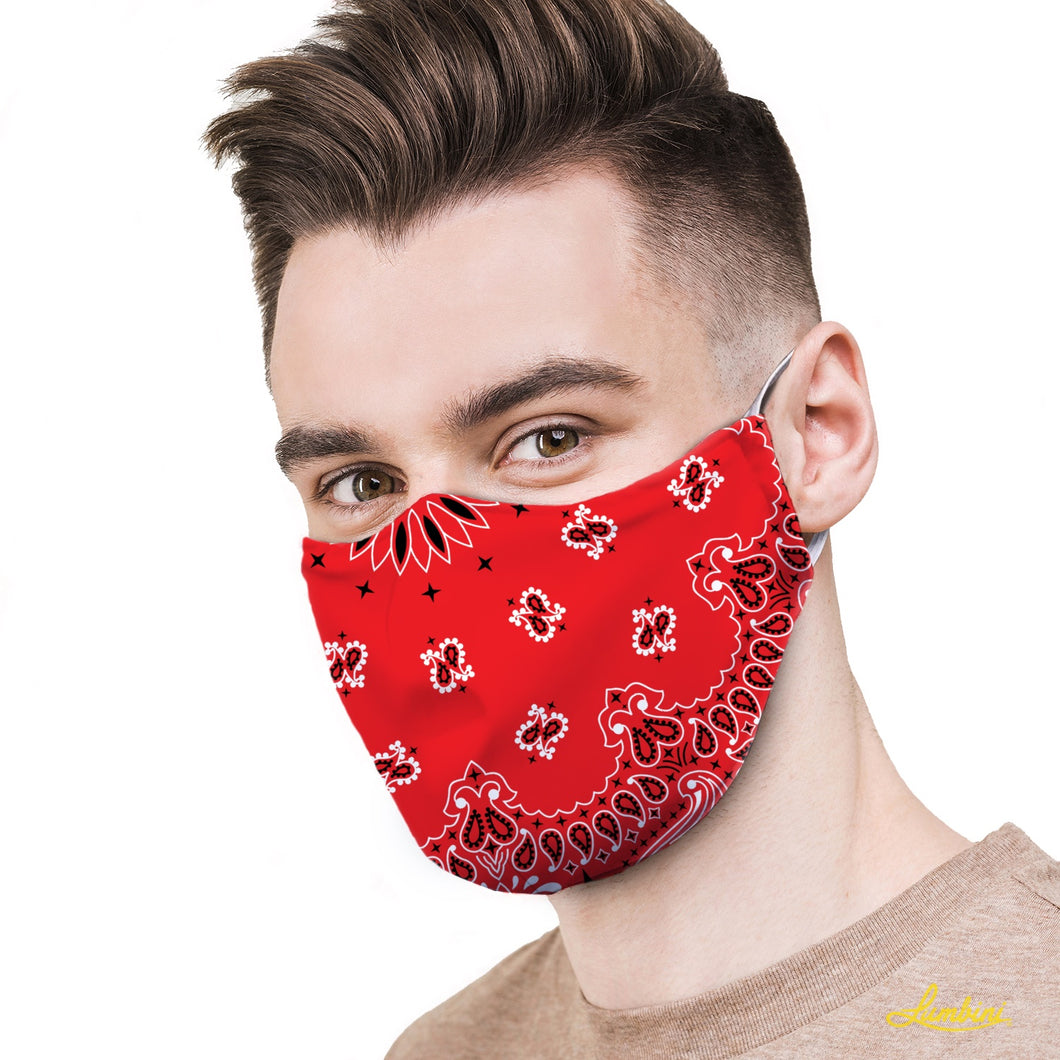 Red Bandana Protective Reusable Face Mask