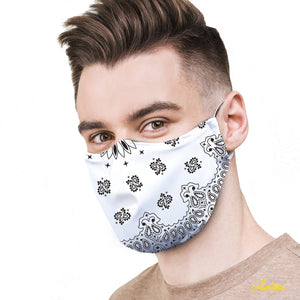 White Bandana Protective Reusable Face Mask