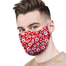 Load image into Gallery viewer, Red Hawaiian Protective Reusable Face Mask