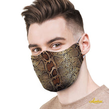 Load image into Gallery viewer, Snake Skin Protective Reusable Face Mask