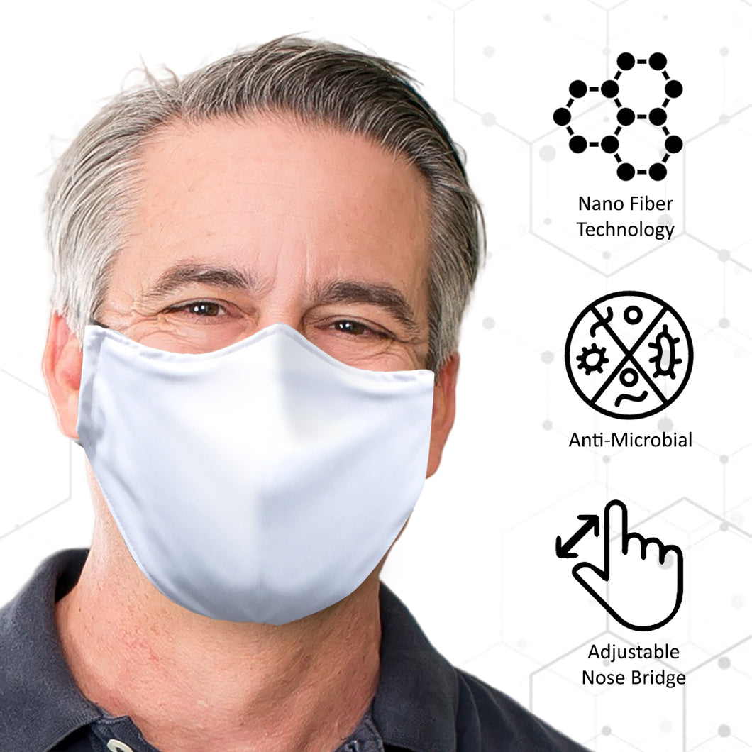 Nano Tech Antimicrobial Hypoallergenic Reusable Face Mask