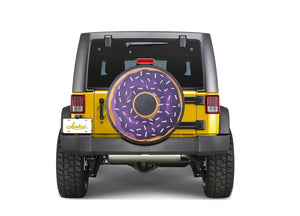 Purple Donut Funny Custom Spare Tire Cover