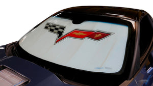 Corvette SunShade American Flag and Script