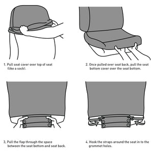 Design Your Own 50/50 Bucket Seat Cover - Lumbini Graphics
