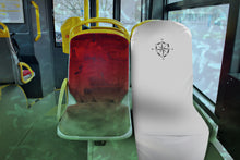 Load image into Gallery viewer, White Travel Seat Barrier for Plane, Train, Rideshare, Subway Seat Protection