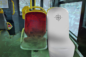 White Travel Seat Barrier for Plane, Train, Rideshare, Subway Seat Protection