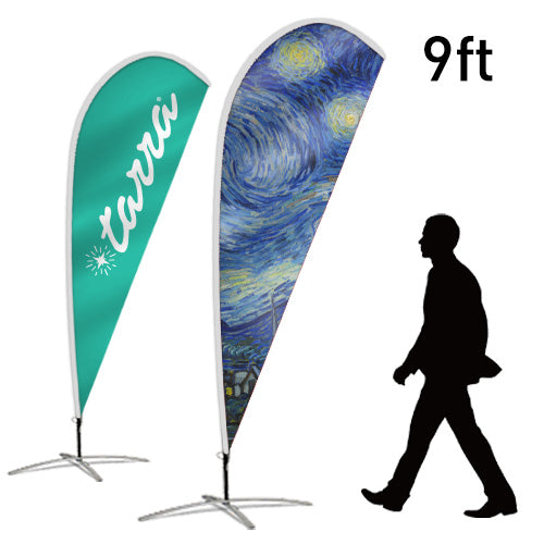 Design Your Own Teardrop Flag, 9ft
