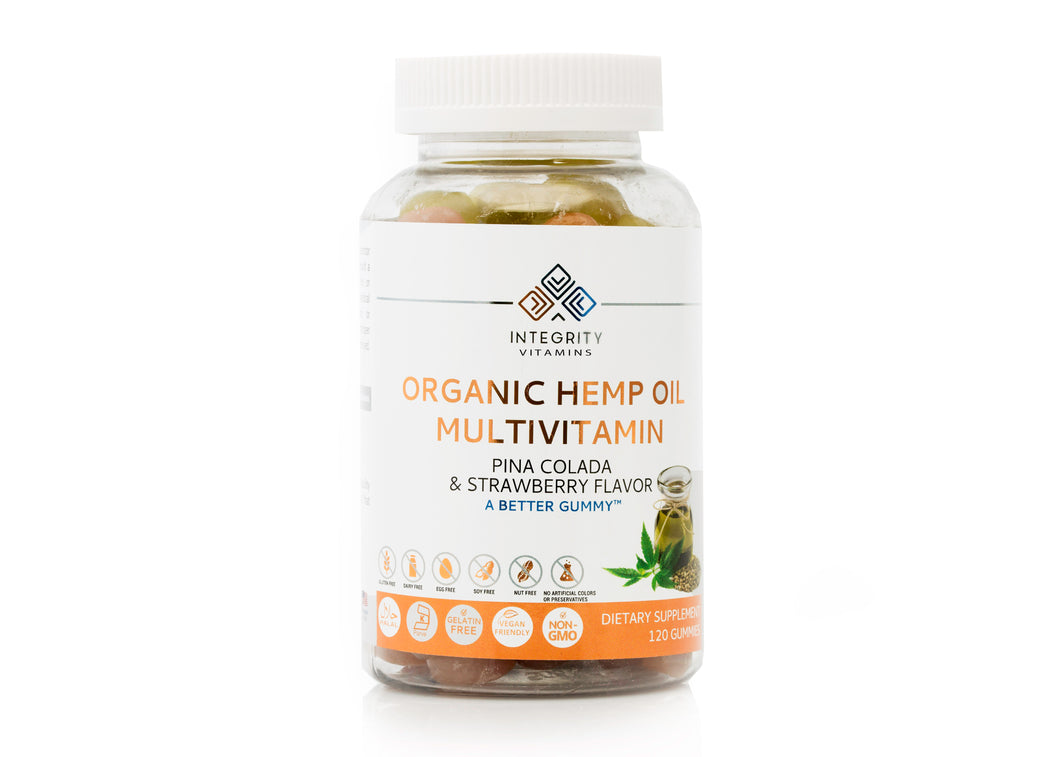 Multivitamin Organic Hemp Oil Gummy (120 count)