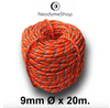 Corde de 20 mètres x 9 mm orange - www.neodyme-shop.com