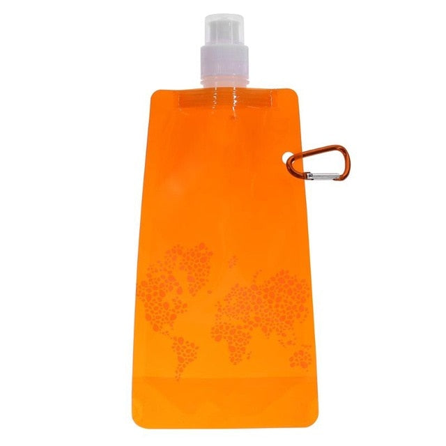 5 Color Portable  Silicone Water Bottle Bag