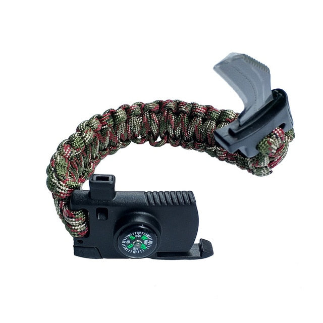 Outdoor Survival Bracelet for Men Women
