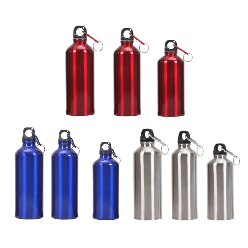 400ml 500ml 600ml Non-toxic Odorless Aluminum Alloy Sports Water Bottles