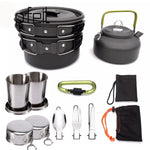 1 Set Outdoor Pots Pans Camping Cookware