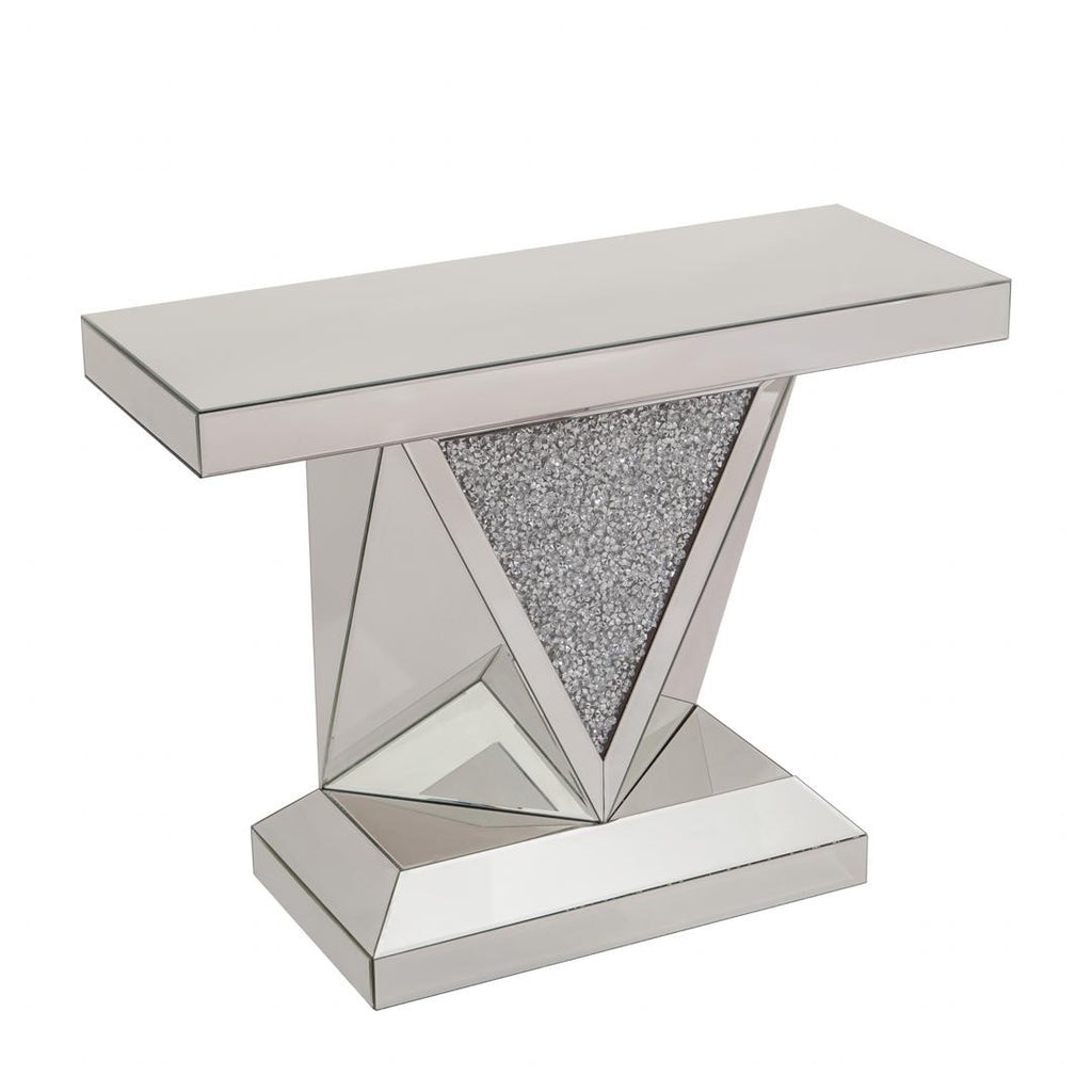 Crushed Crystal Triangle Console Table