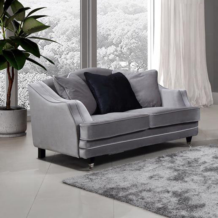 Belvedere Velvet 4 & 2 Seater Sofa Set