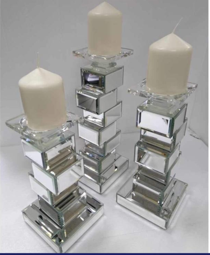 Jenga Candle Pillars - Set of 3