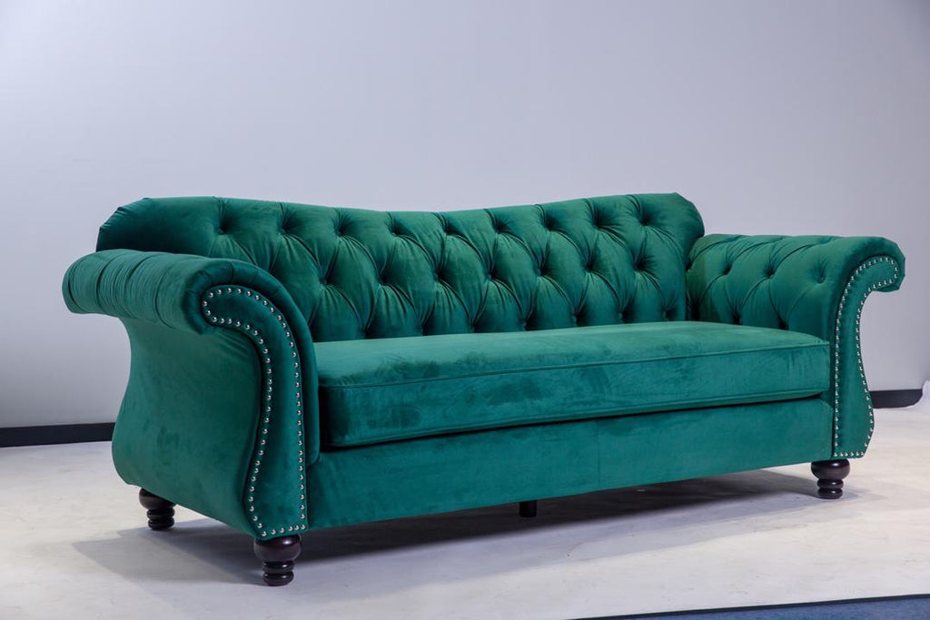 Victoria 3 & 2 Seater Sofa Set - Green