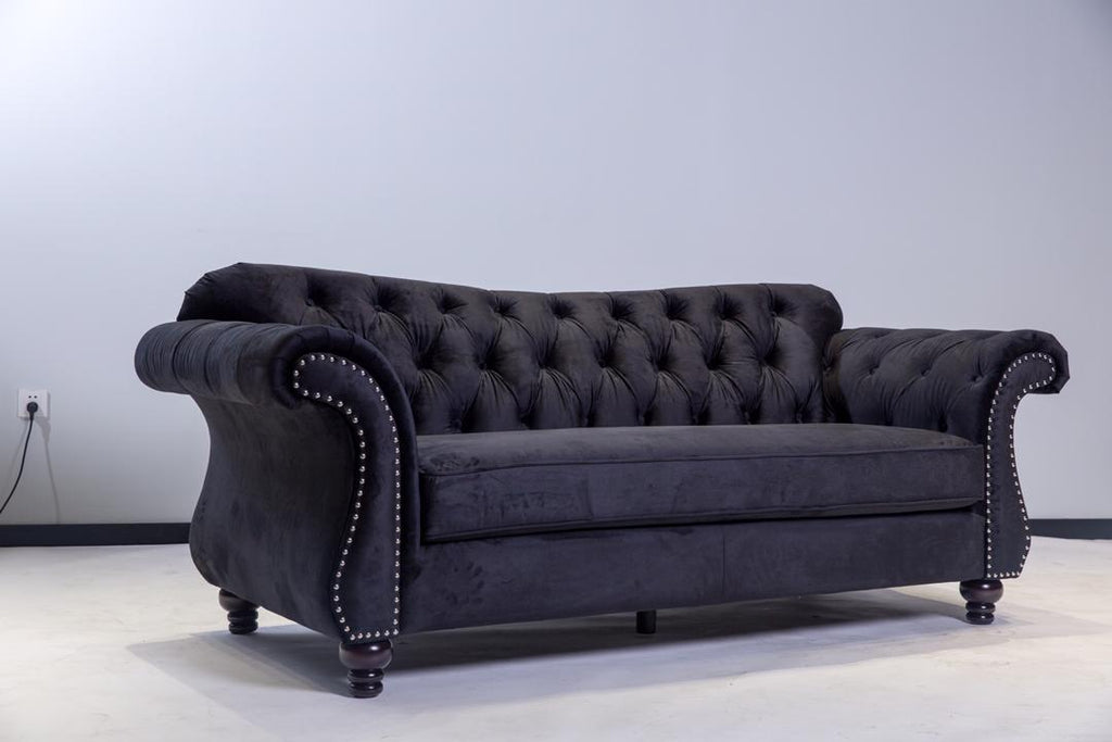 Victoria 3 & 2 Seater Sofa Set - Black