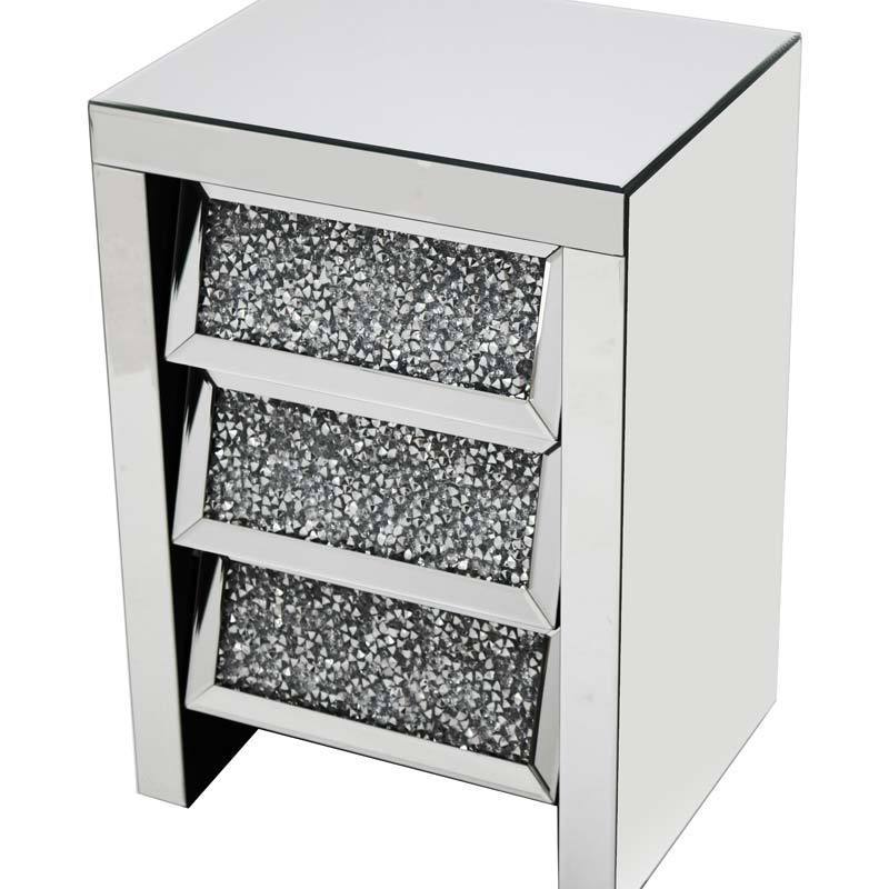 Angled Gatsby 3 Drawer Bedside