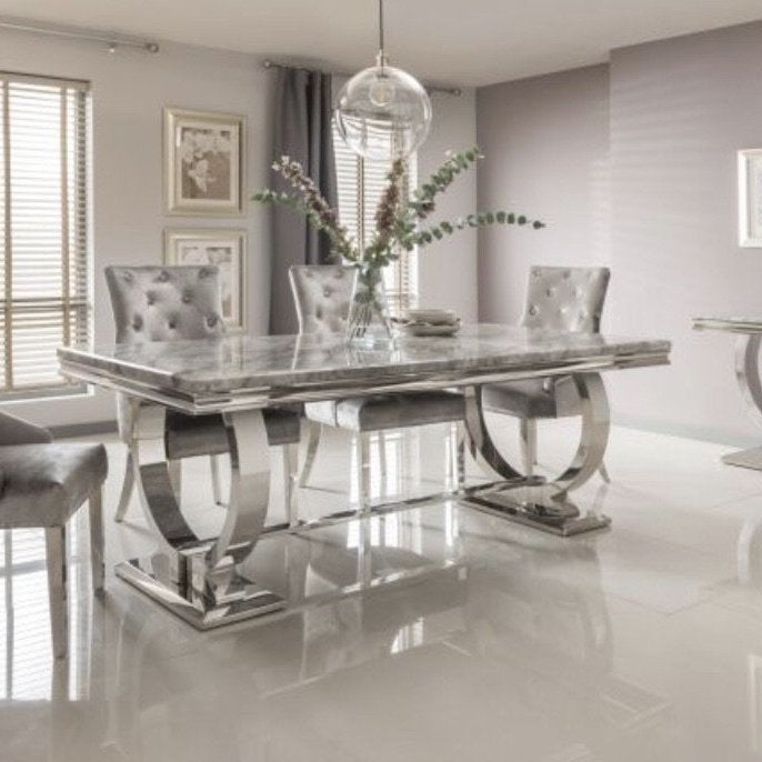 best service 95026 587f6 Arianna Grey Dining Set
