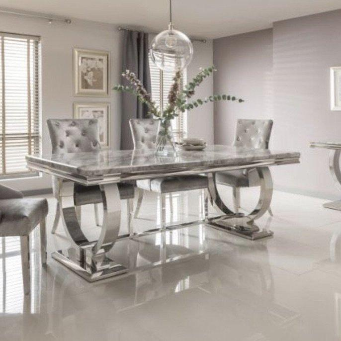 Belvedere Sofa & Arianna 2m Grey Dining Table & Arianna Collection Furniture Pack