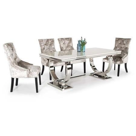 Arianna Rectangle Marble Dining Table 180cm - Cream