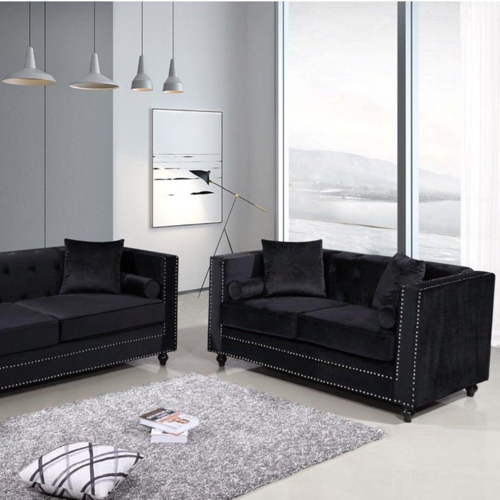 Aspen 3 & 2 Seater Sofa Set - Black
