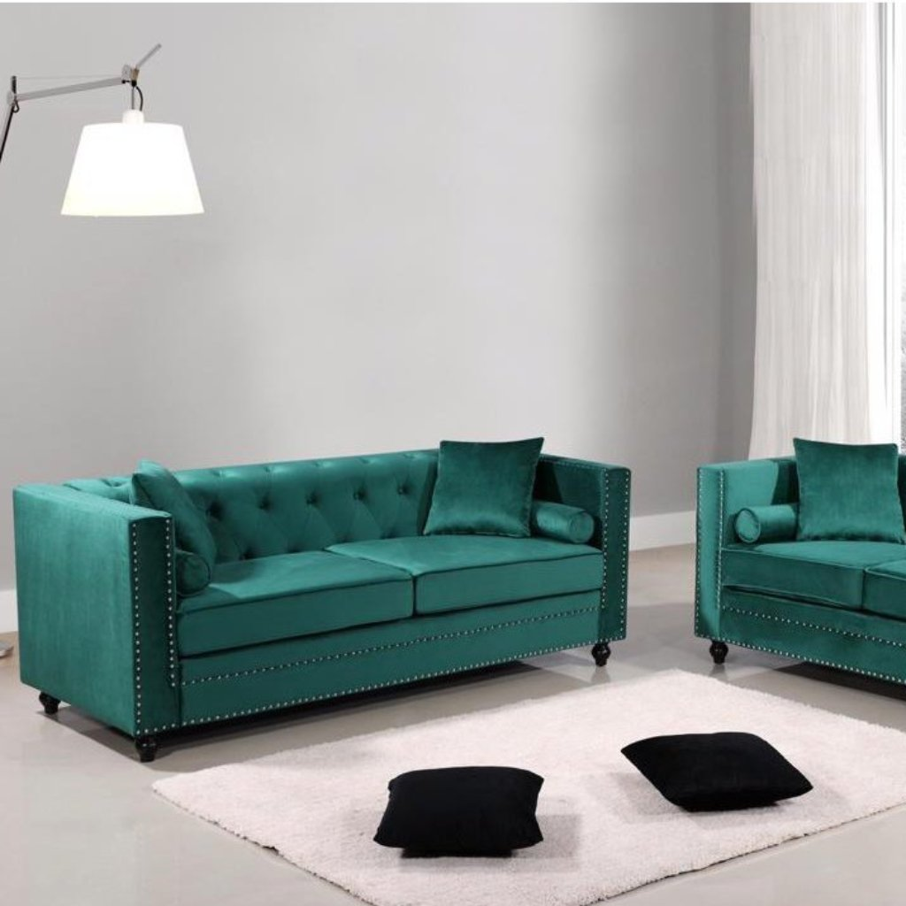Aspen 3 & 2 Seater Sofa Set - Green