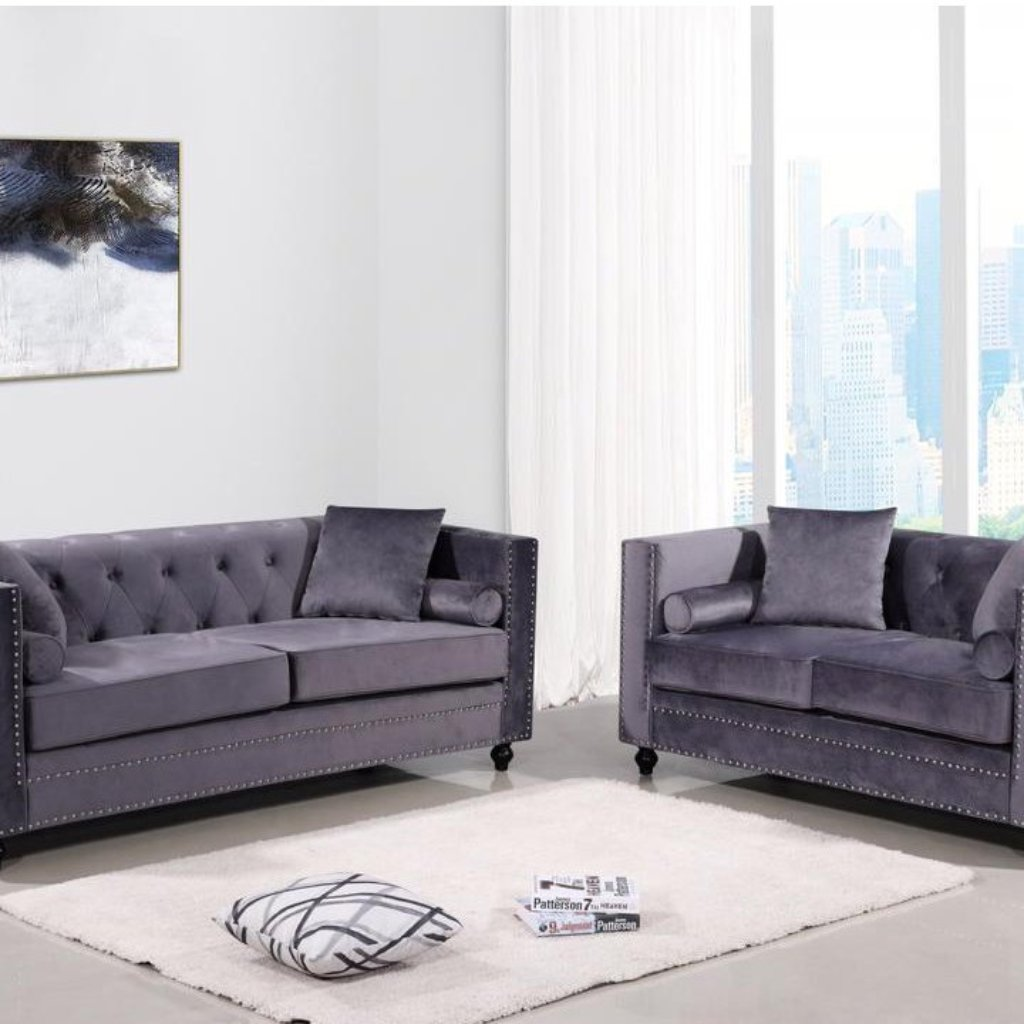 Aspen 3 & 2 Seater Sofa Set - Grey