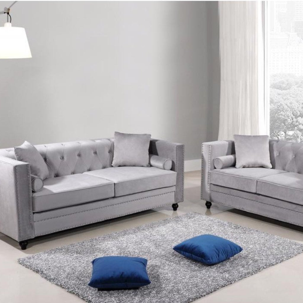 Aspen 3 & 2 Seater Sofa Set - Silver