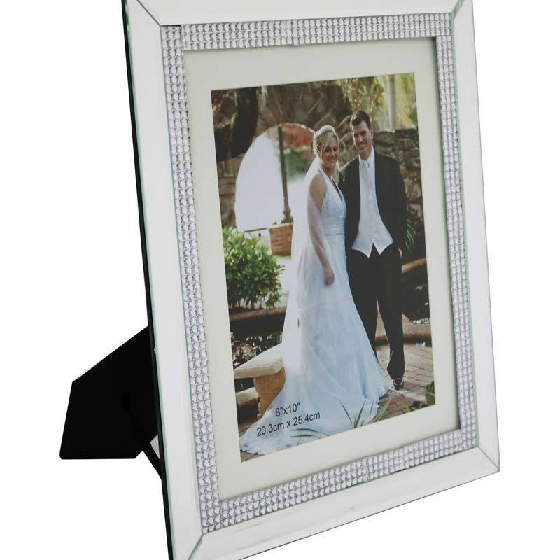 Chic Mirror Photo Frame 12x10cm