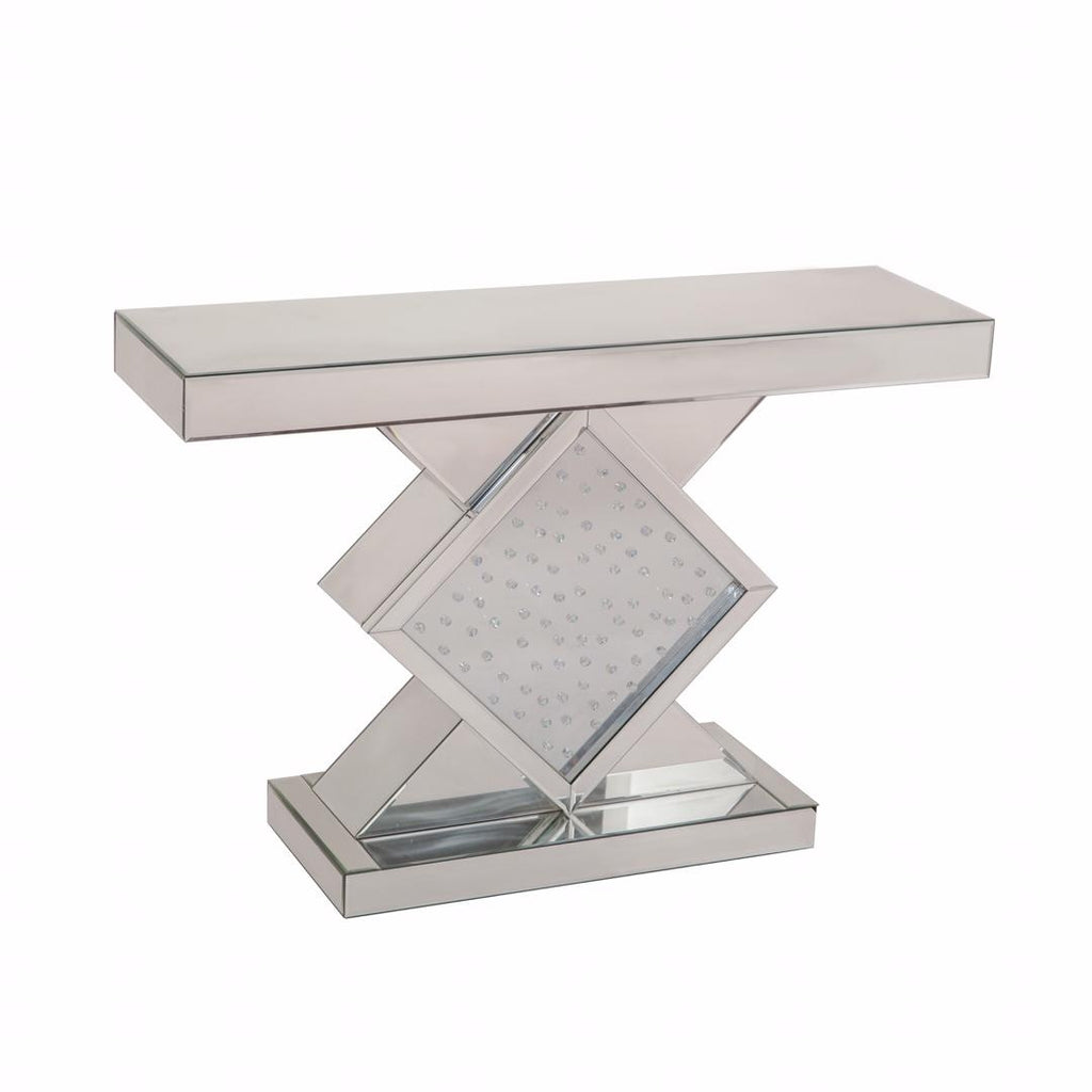 Floating Crystal Square Console Table