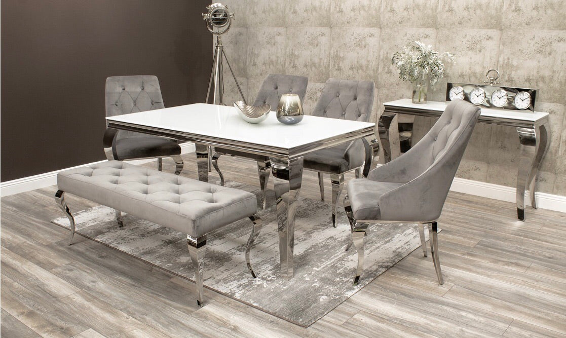 newest 1f2a4 682f5 Louis Mirrored Dining Set