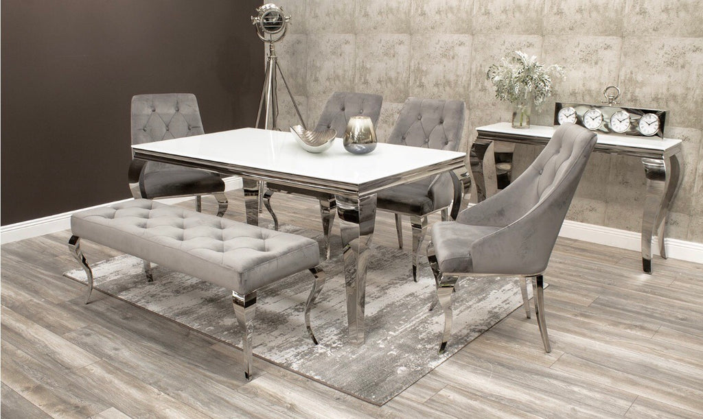 Louis Mirrored Dining Set