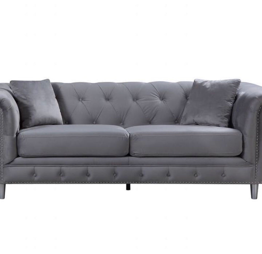Kensington three seater sofa silver